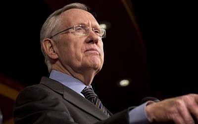 Senate Majority Leader Harry Reid of Nevada during a news conference on Capitol Hill in Washington, Thursday, November 21, 2013 (Jacquelyn Martin/AP)