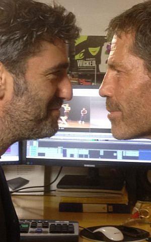 Filmmaker Tomer Heymann and dancer Ohad Naharin in their never-ending faceoff (Courtesy Heymann Brothers)