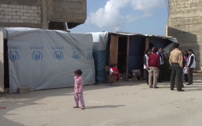 Syrian refugees in Lebanon. (screen capture: Youtube/Doctors Without Borders/MSF-USA)