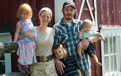 Tova Kinderlehrer and her husband, Micah Simmons, are hoping to draw 10 Jewish families to their farm in rural Pennsylvania. (photo credit: JTA)