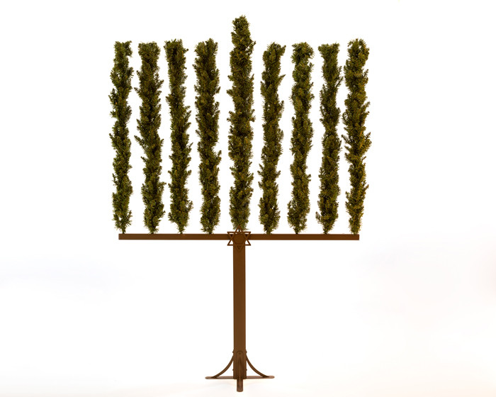 Move over Hanukkah bush, make room for the Menorah Tree. (photo credit: screenshot)