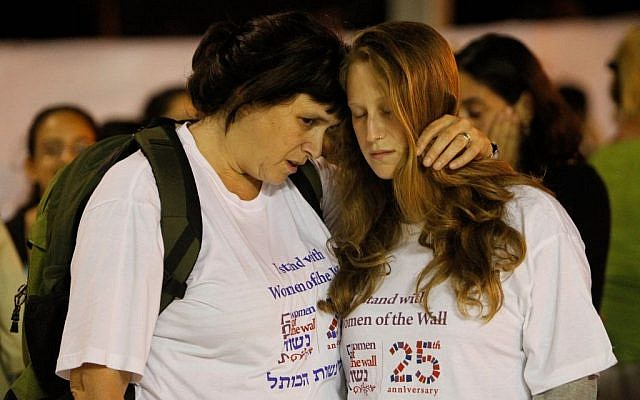 Rabbi Susan Silverman with her daughter and fellow Women of the Wall activist Hallel Silverman (Courtesy of Women of the Wall)