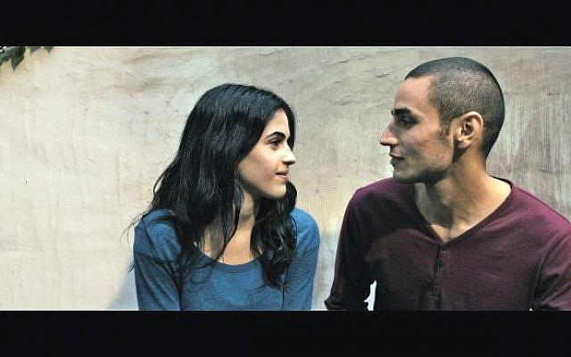Palestinian actors Leem Lebany as Nadja and Adam Bakri as Omar (photo credit: Courtesy 'Omar')