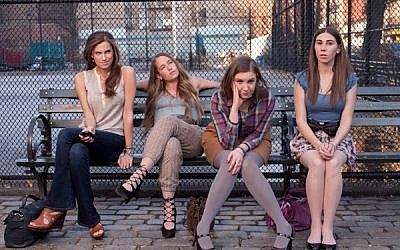 The girls of HBO's award-winning show, 'Girls,' starring creator Lena Dunham, second from right (photo credit: Courtesy 'Girls')