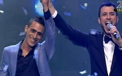 "Eviatar Corcos, left, wins ""Rising Star"" on Tuesday night (photo credit: screenshot)"