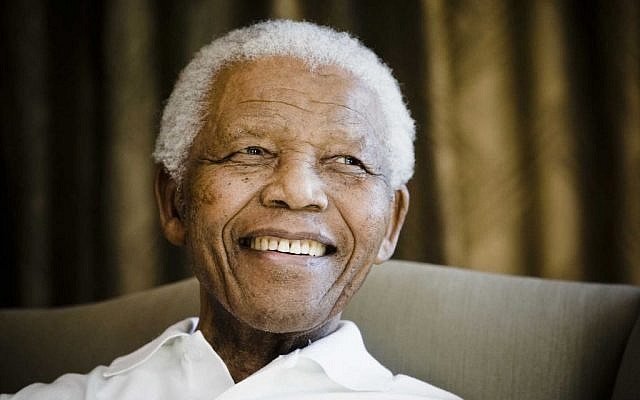 Former South African president Nelson Mandela in 2009. (photo credit: AP/Theana Calitz-Bilt, Pool)