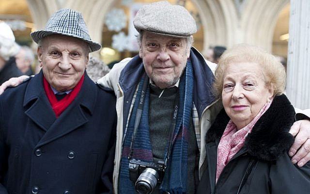 Kindertransport survivors Harry Heber, Alfred Buechler and Ruth Jacobs (photo credit: BlakeEzraPhotography)