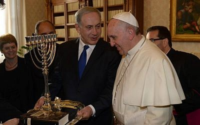 Pope Francis and Prime Minister Benjamin Netanyahu will meet when the pope visits Israel in May (photo credit: Amos Ben Gershom/GPO/Flash90)