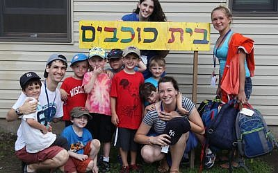 Campers at Ramah Day Camp in Nyack, New York, participating in a pilot Hebrew immersion program. (photo credit: Ramah Day Camp/JTA)