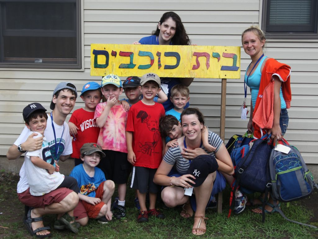 Illustrative: Campers at Ramah Day Camp in Nyack, New York, participating in a pilot Hebrew immersion program. (photo credit: Ramah Day Camp/JTA)