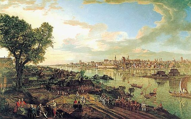 View of Warsaw from the Praga bank by Bernardo Bellotto. The ownership of two Bellotto paintings are currently under dispute by the Jewish heirs of a former art owner who fled the Nazis. (photo credit: PD-Art, Wikimedia Commons)