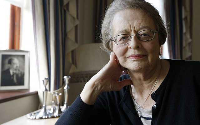 Eve Willman, 80, who was brought to England by Kindertransport from Austria to escape Nazi persecution, sits at her home in London. (photo credit: AP Photo/Kirsty Wigglesworth)