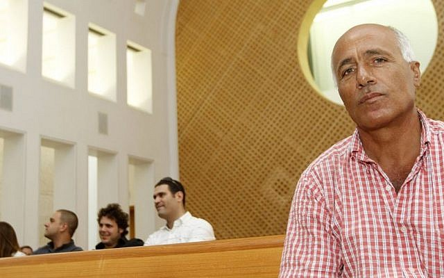 Ex-nuclear spy Mordechai Vanunu attending a hearing at the Supreme Court in Jerusalem in 2010. Vanunu has been petitioning for years against a warrant preventing him from leaving Israel. (photo credit: Miriam Alster/Flash90)