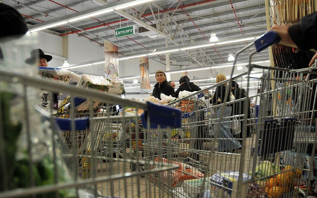 f2c4ac5e3433 Forget the shopping cart, the groceries are online | The Times of Israel