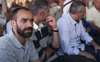 Palestinian prisoner Samer Issawi arrives to his home in Issawiya after he was released in the first phase of the prisoner exchange deal which took place between Hamas and the Israeli government. October 18, 2011. (Photo credit: Yonatan Sindel/Flash90)