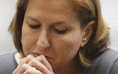 Justice Minister Tzipi Livni. (photo credit: Miriam Alster/FLASH90)