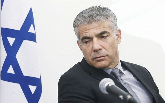 Finance Minister Yair Lapid, November 5, 2013 (photo credit: Roni Schutzer/Flash90)