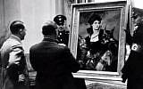File: Hitler assesses looted art (photo credit: YouTube screenshot)