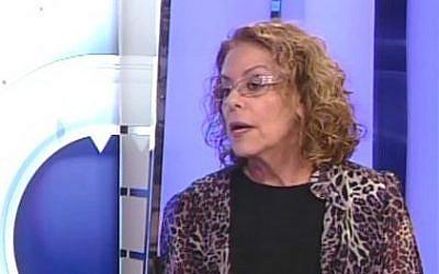 President of the Ben Gurion University of the Negev,  Professor Rivka Carmi. (screen capture: Youtube/DaromTvNews1)