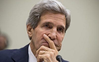 US Secretary of State John Kerry (photo credit: AP Photo/J. Scott Applewhite)