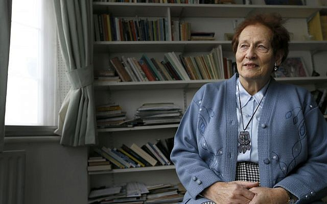 Ruth Barnett, 78, who was brought to England in 1939 by Kindertransport from Germany to escape Nazi persecution, sits at her home in London. (photo credit: AP Photo/Kirsty Wigglesworth)
