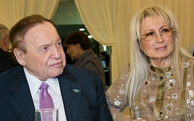 Sheldon and Miriam Adelson at the opening event for the Adelson School of Entrepreneurship, 2013 (Courtesy)