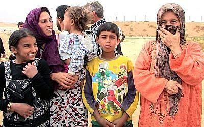 Syrian refugees in Mafraq. (photo credit: Debra Kamin/Times of Israel)