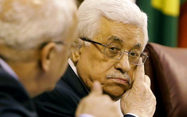 Palestinian Authority  President Mahmoud Abbas during a meeting with Arab foreign ministers in Cairo, Egypt, Saturday, December 21, 2013. (photo credit: AP/Amr Nabil)