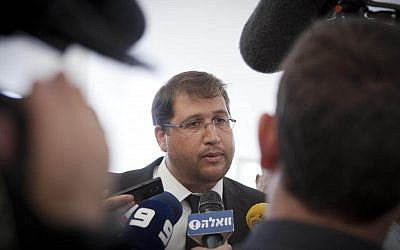 In this Tuesday, Dec. 17, 2013 photo, Israeli lawyer Michael Sfard talks to media after a court hearing at Israel's Supreme Court in Jerusalem (photo credit: AP Photo/Dan Balilty)