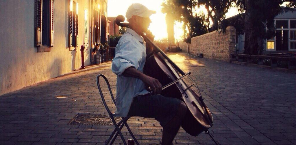 A little music at sunset.