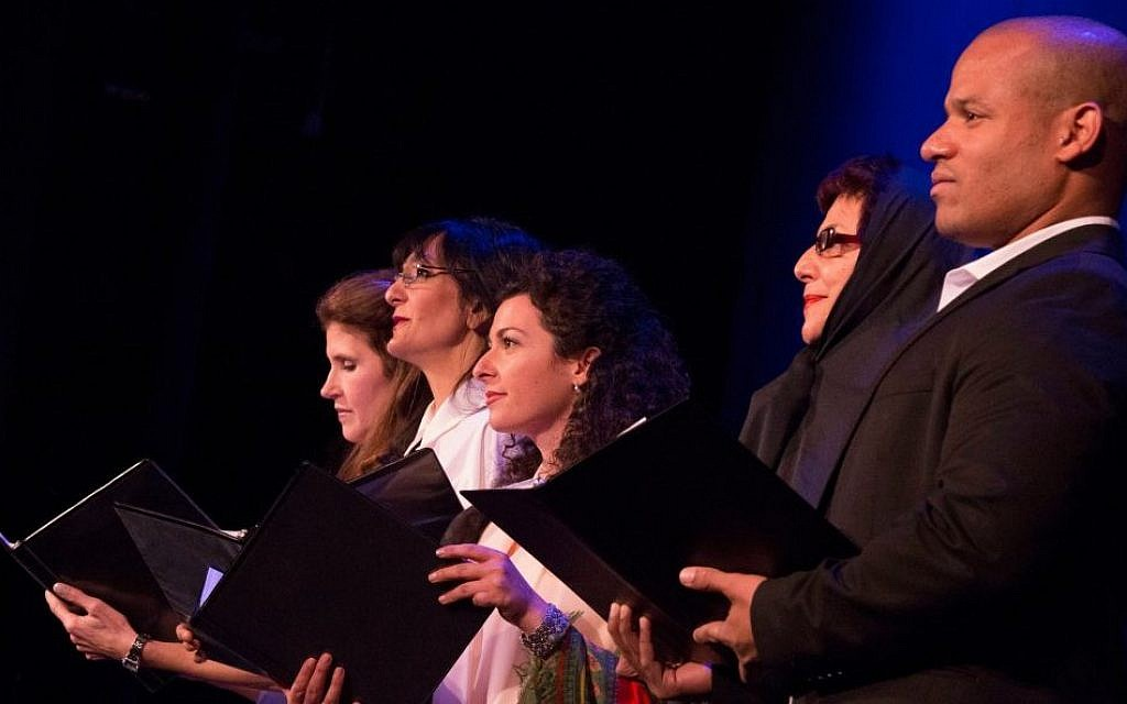 Cast of 'Saffron & Rosewater' performing at the 92nd Street Y in New York (photo credit: Joyce Culver)