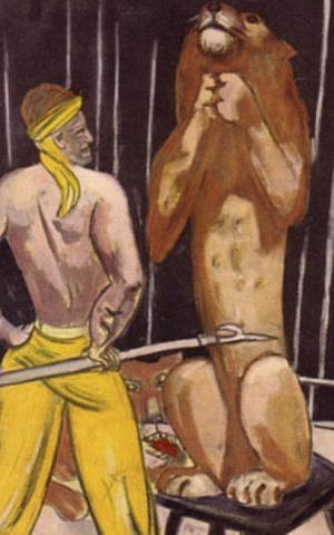'The Lion Tamer' by Max Beckmann was likely Cornelius Gurlitt's last sale. (photo credit: courtesy)