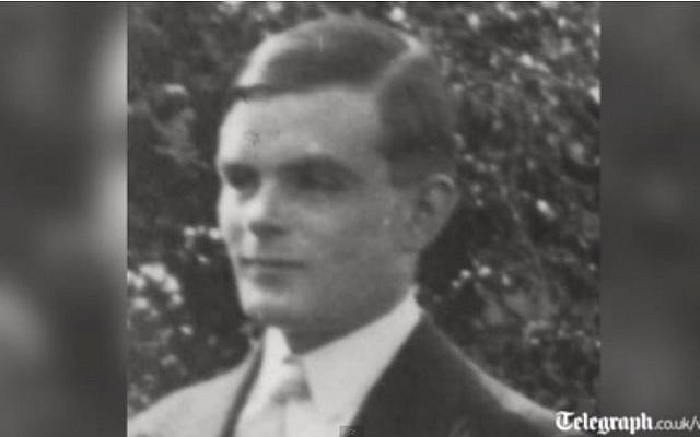 British mathematician Alan Turing. (screen capture: Youtube/The Telegraph)