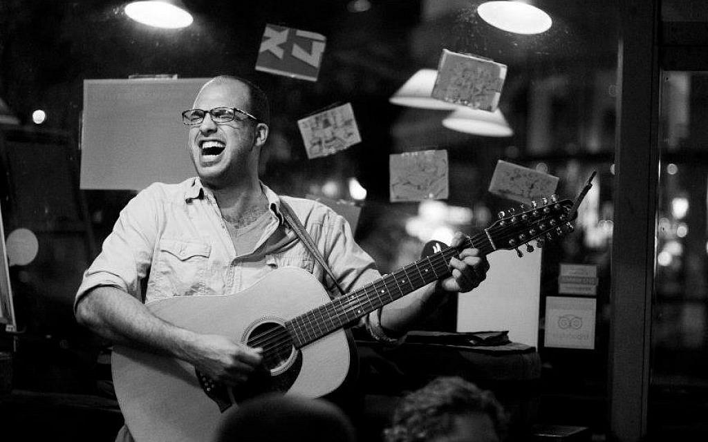 Ami Yares performing at Xoho Cafe in Tel Aviv (photo credit: Danielle Shitrit/Courtesy)
