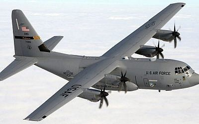 "The Lockheed Martin ""Super"" Hercules, which will enter IAF service as the Shimshon in 2014 (photo credit: US Department of Defense)"