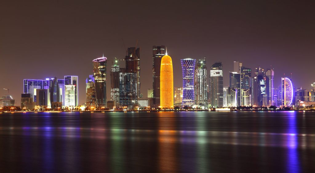 The Doha skyline by night. (photo credit: Shutterstock images)