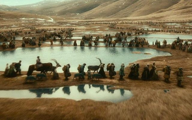 The dwarves of Erebor flee their homeland in last year's 'The Hobbit: An Unexpected Journey.' (photo courtesy: Warner Bros.)