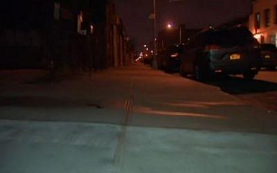 Flushing Avenue, Brooklyn, at night. (photo credit: Screen capture, NBC News)