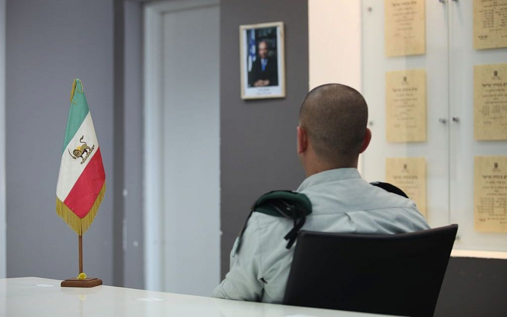 Major M at IDF Military Intelligence Directorate's main base north of Tel Aviv (photo credit: IDF Spokesperson's Unit)