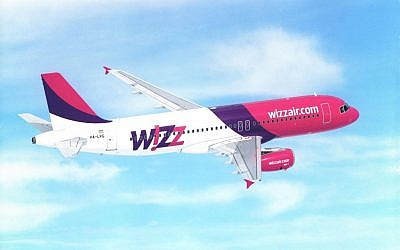 A Wizz airlines plane. (photo credit: Courtesy)
