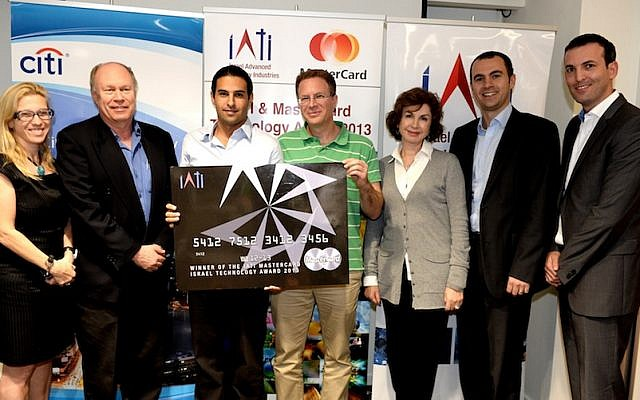 CallVU's executives accept the  MasterCard Israel Technology Award in a ceremony in Tel Aviv on  December 4. (L. to R.): Bella Stavchansky, President of MasterCard's High Growth European Markets; Daniel Cohen, MasterCard Israel CEO;  Ori Faran, Co-Founder and CEO of CallVU; Doron Rotstein, Co-Founder and of CallVU; Ornit Shinar, manager of the Citi Accelerator in Tel Aviv; Yoav Chelouche, General Partner, IATI; Mete Guney, General Manager of MasterCard Southeastern Europe