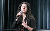 Neshama Carlebach performing at the Union for Reform Judaism's biennial in San Diego, December 2013. (URJ/JTA)