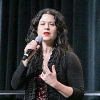 Neshama Carlebach performing at the Union for Reform Judaism's biennial in San Diego, December 2013. (URJ/JTA)