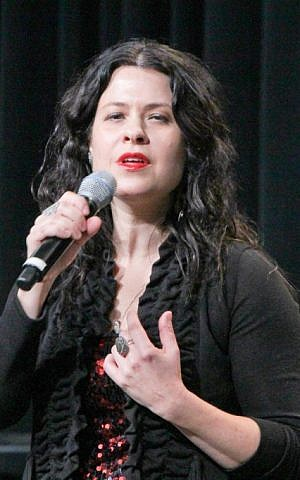 Neshama Carlebach performing at the Union for Reform Judaism's biennial in San Diego, December 2013. (photo credit: URJ/JTA)