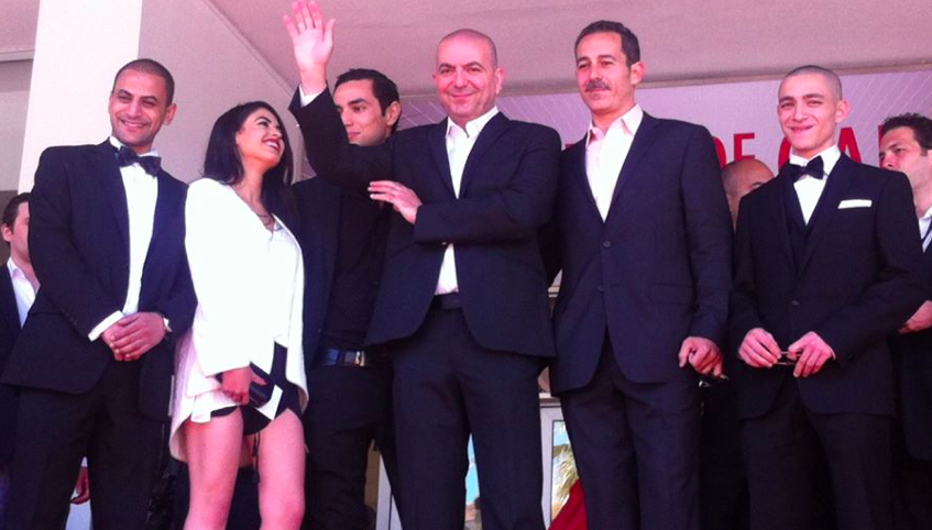 The U0027Omaru0027 Cast At Cannes, With Abu Assad In The Center (