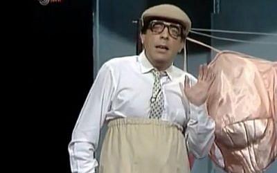 Sefi Rivlin in an appearance on comedy show Motzash. (photo credit: screen capture/YouTube)