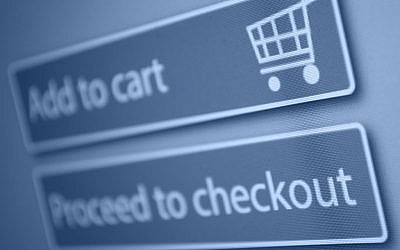 Checkout screen for online shopping (Checkout screen via Shutterstock)