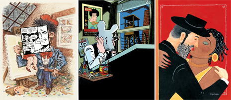 Art work by Art Spiegelman (photo credit: Courtesy of the current exhibition of the The Jewish Museum/Copyright © by Art Spiegelman. Used by permission of the artist and The Wylie Agency LLC;)