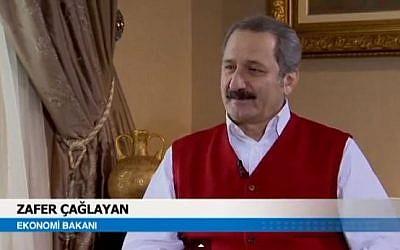 Turkey's Economy Minister Zafer Caglayan, February 2012. (screen capture: Youtube/NZL Produksiyon)