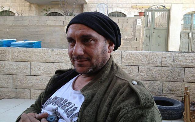Ras Khamis resident Jamil Sanduqa (photo credit: Elhanan Miller/Times of Israel)